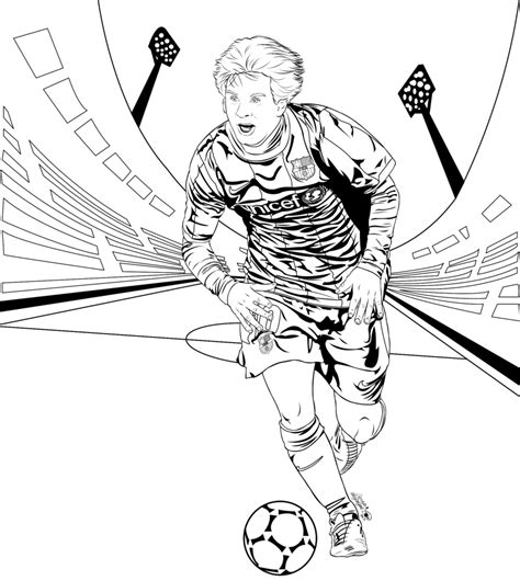 Kleurplaat Barcelona Messi by Lionel Messi Drawing At Getdrawings Free For