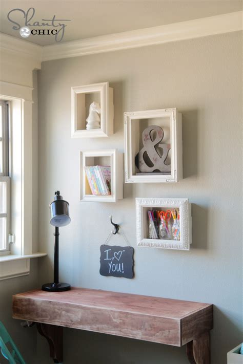 Diy Frame Shelves  Shanty 2 Chic