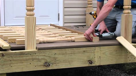 installing a l post photos how to install deck spindles from s l spindles