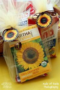 sunflower party favors i put a bag of edible sunflower With sunflower wedding favor ideas