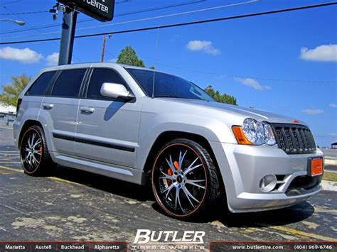 jeep cherokee power wheels jeep cherokee srt 8 with 24in dub type 12 wheels