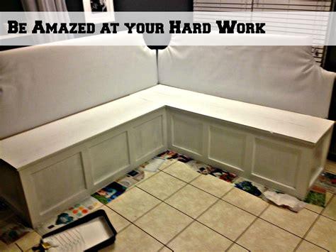 corner booth kitchen remodelaholic build a custom corner banquette bench