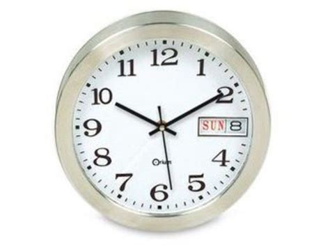 horloge murale avec affichage de la date contact manutan