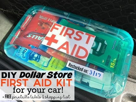 Diy Dollar Store First Aid Kit For Your Car + Free