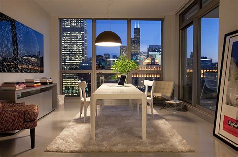 with a city view 7 tips for home office lighting ideas Office