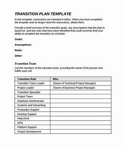 9 sample transition plans sample templates for Job transition documents