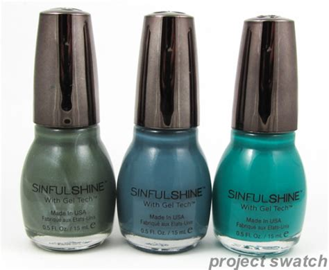 sinful colors shine with gel tech review swatches