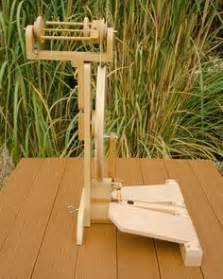 Two treadle portable spinning wheel from woodworking plans