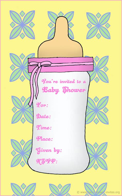 baby shower templates free printable free printable baby bottle baby shower invitation template free printable baby shower