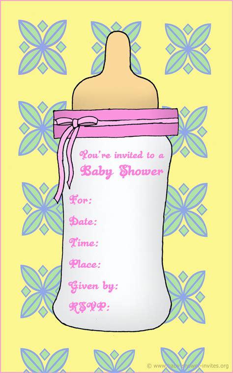 printable baby bottle baby shower invitation template