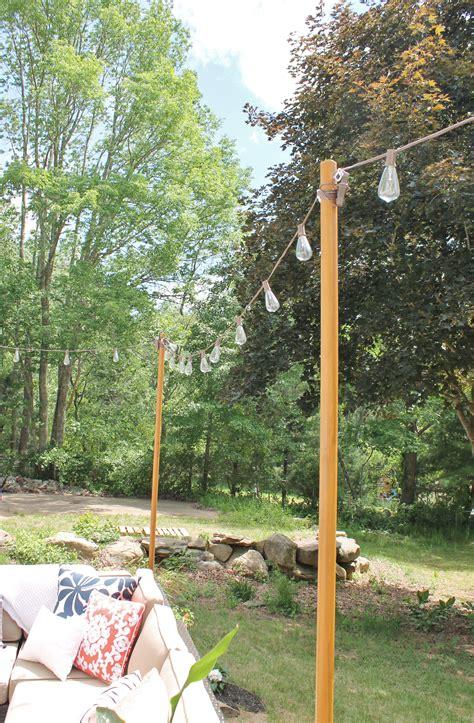 diy outdoor string lights diy outdoor light poles city farmhouse