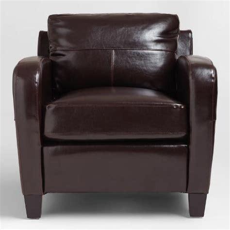 world market chairs leather espresso bi cast leather chair world market