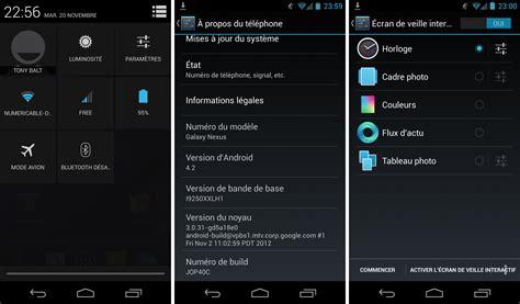 android version 4 4 4 android 4 2 image de restauration et mise 224 jour en