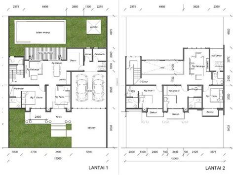 desain rumah klasik     dua lantai  kolam renang