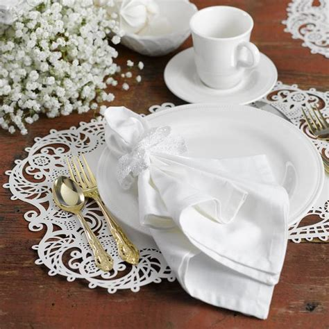 lace  laser cut filigree wedding placemat packs