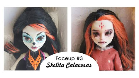 Monster High Skelita Calaveras Ooak Doll Repaint