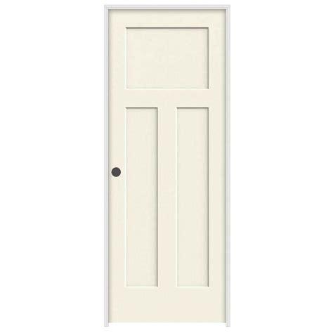 3 panel interior doors home depot jeld wen 30 in x 80 in molded smooth 3 panel craftsman