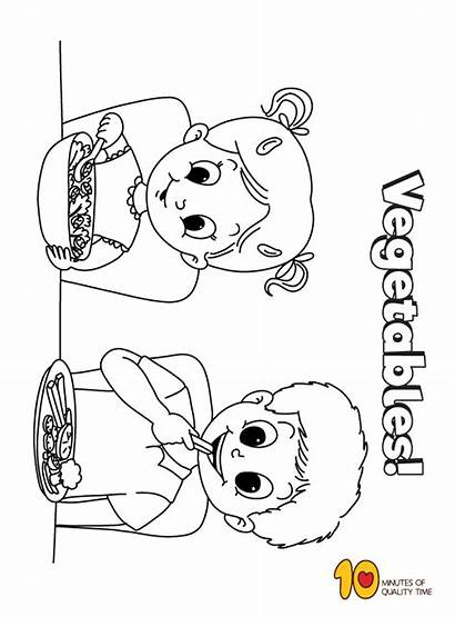 Eating Coloring Vegetables Pages Vegetable Activities Printable