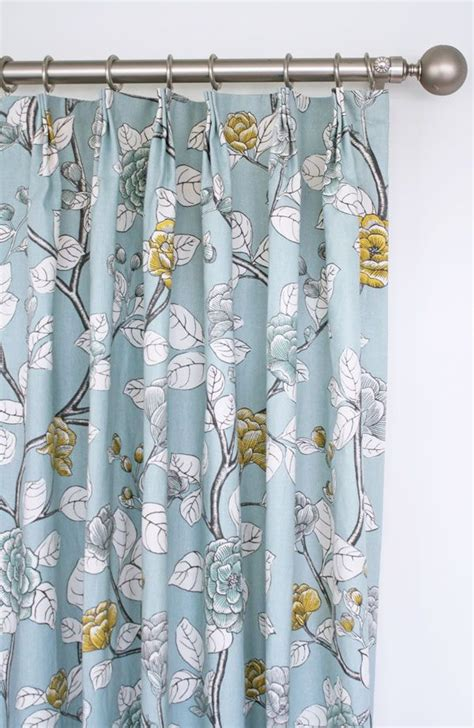 yellow floral drapes soft blue floral drapes with charcoal grey yellow and