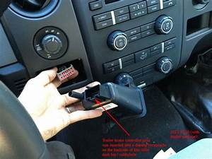 Location Of Brake Controller Plug - Pic  2013 F150