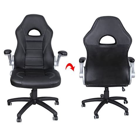 fauteuil de bureau sport racing songmics chaise fauteuil siège de bureau racing sport pu