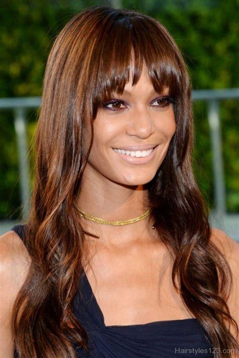 Brown Hair Or Hair On A by Bangs Hairstyles