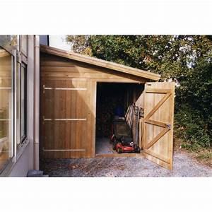 Abri En Bois : abri de jardin toit 1 pente ~ Edinachiropracticcenter.com Idées de Décoration