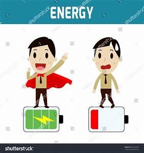 Energy Businessmen Low Battery Full Battery concept Lager ...