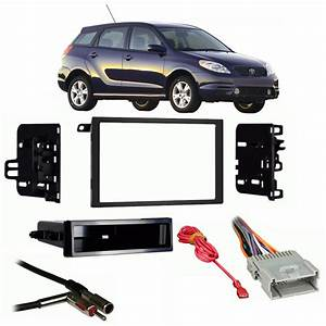 Toyota Matrix 2003-2004 Double Din Stereo Harness Radio Install Dash Kit Package