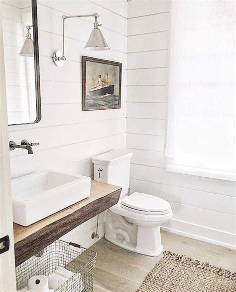 White Shiplap Bathroom by White Shiplap Bathroom Polished Nickel Sconce Vintage