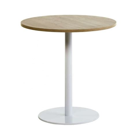 table de cuisine ronde en stratifi 233 avec pied central rondo 4 pieds tables chaises et