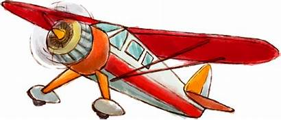 Clipart Airplane Plane Aircraft Planer Silhouette Painted