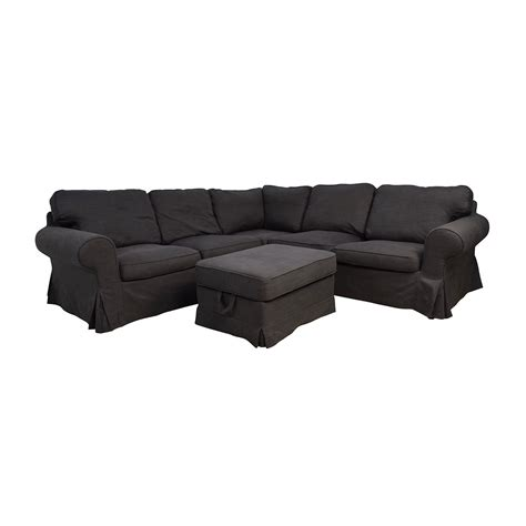 grey ektorp sofa 39 off ikea ikea ektorp gray corner sectional with ottoman sofas