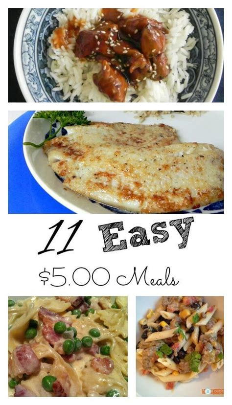 cheap and easy dinner easy 5 00 meals great meals your family and your wallet will love easy meals budgeting and