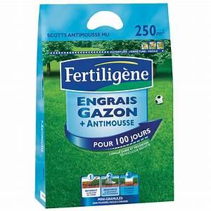 Engrais Gazon Naturel : engrais gazon anti mousse longue dur e 250m2 engrais ~ Premium-room.com Idées de Décoration