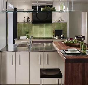 Stainless steel kitchen countertop or sus backsplash for Stainless steel kitchen countertop