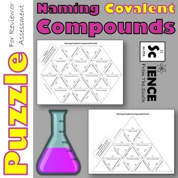naming covalent compounds puzzle for review or assessment