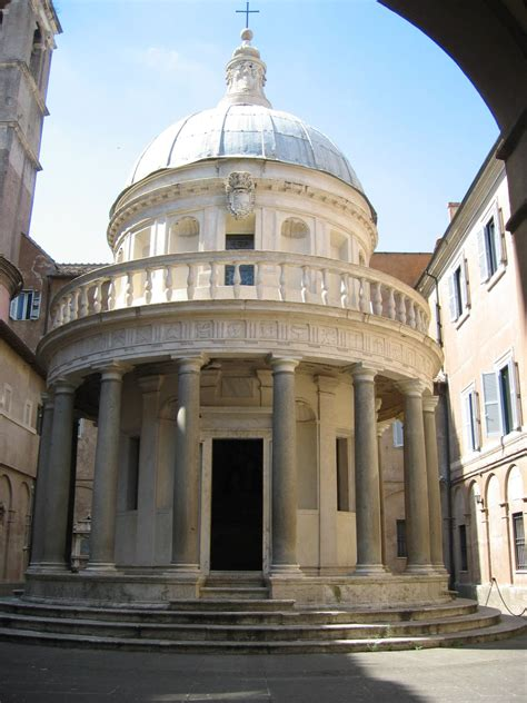 rome italy tempietto meaning  temple  st