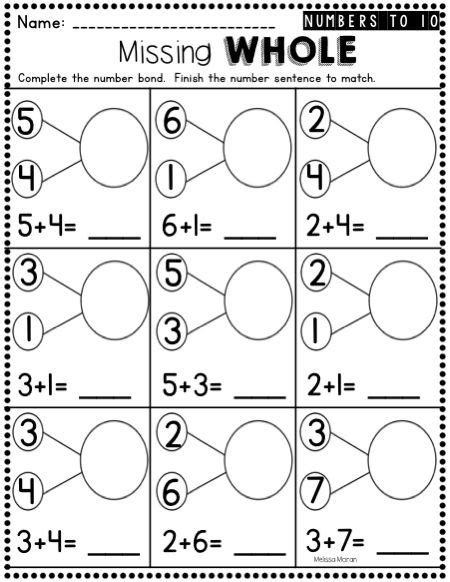25 number bonds worksheets ideas on