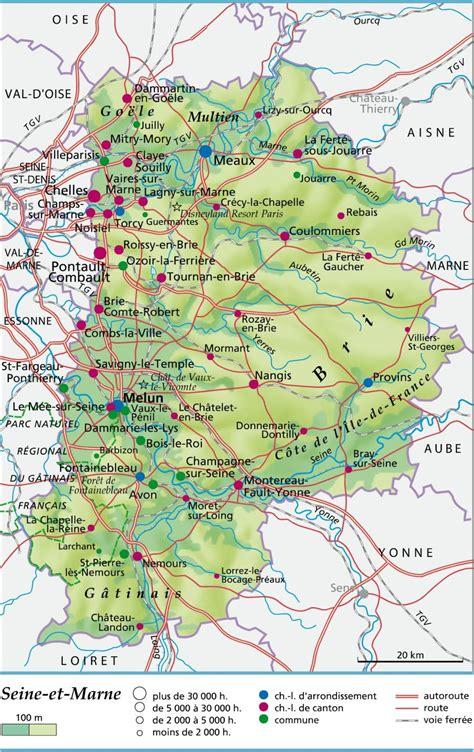 Carte De La Ville Et Departement by D 233 Partement 77 Voyages Cartes