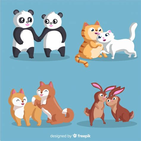Infinidraw universal svg drawing with pan and zoom. Animal couple collection   Free Vector