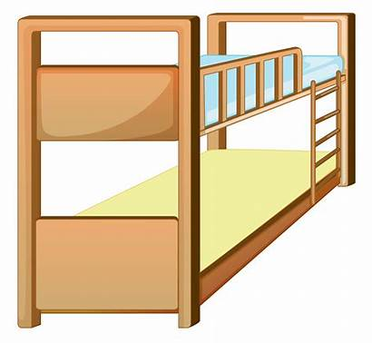 Bed Bunk Clip Vector Clipart Bedroom Illustration