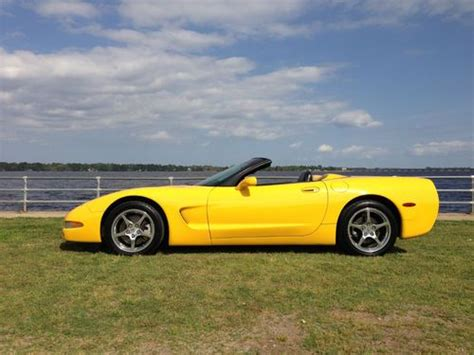airbag deployment 2001 chevrolet corvette transmission control purchase used 2001 yellow corvette convertible in excellent condition in new bern north