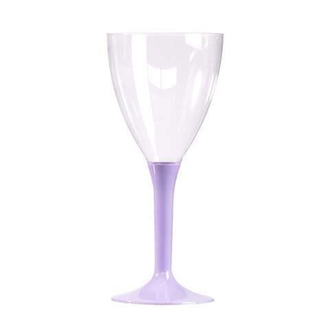verres 224 vin eau jetable en plastique avec pieds color 233 s pas cher
