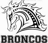 Broncos Denver Coloring Fantasy Clipart League Clip Fantasia Bronco Mascot Horse Template Logos Football Graphics Loghi Printables Liga Dos Printable sketch template