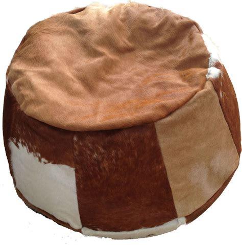 Cowhide Bean Bags by Cowhide Leather Bean Bag Doris Boris