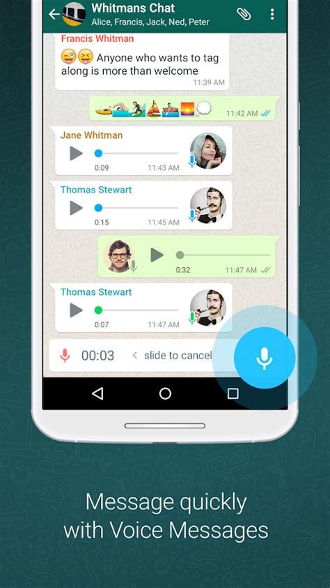 whatsapp messenger android apps on play