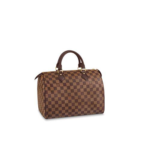 speedy  damier ebene canvas handbags louis vuitton