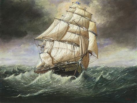 cutty sark caught   squall painting  eric bellis