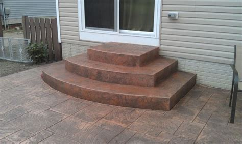sted concrete steps patio landscaping ideas
